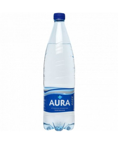 Вода Аура питьевая газированная 1л