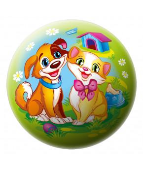 Мяч Котенок и щенок, 23 см