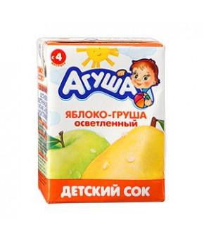 Сок Агуша яблоко и груша 200мл