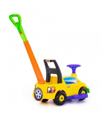 Автомобиль-каталка Polesie Пикап, с ручкой, жёлтый