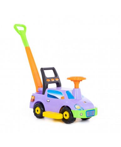 Автомобиль-каталка Polesie Пикап, с ручкой, сиреневый
