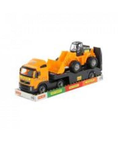 """""""Volvo"""", автомобиль-трейлер + трактор-погрузчик (в лотке)"""