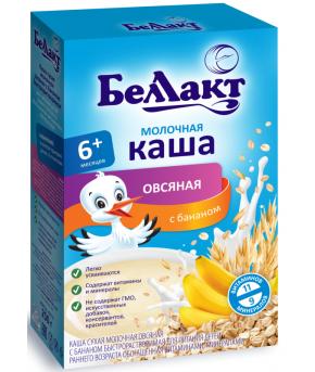 Каша Беллакт овсяная с бананом молочная 250г