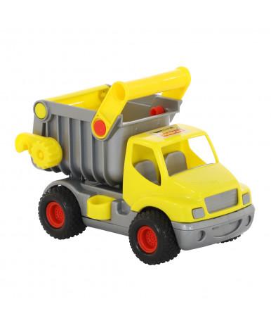 Автомобиль самосвал Полесье Конс Трак жёлтый в сеточке