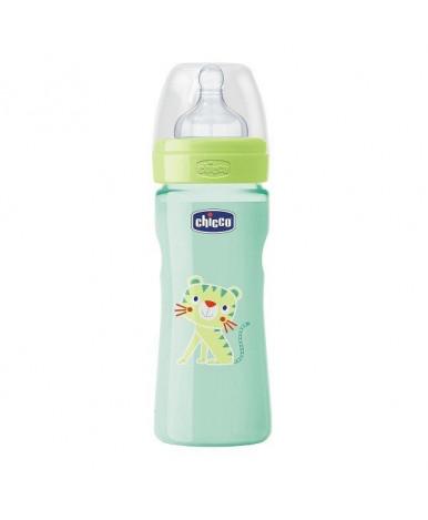 Бутылочка Chicco Well-Being Тигрёнок с силиконовой соской, 250мл
