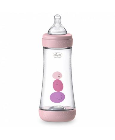 Бутылочка Chicco Perfect5 Girl с силиконовой соской 4+ 300мл