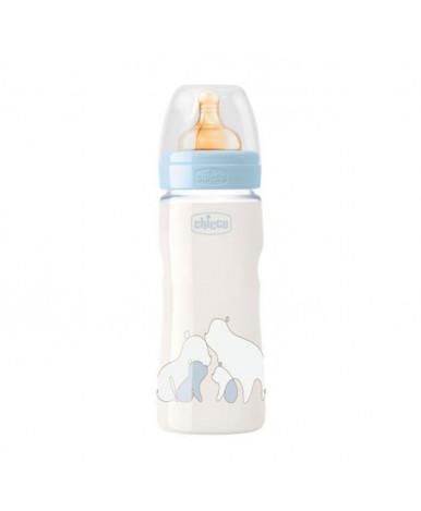 Бутылочка Chicco Original Touch Boy с латексной соской 4+ 330мл