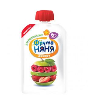 Десерт Фруто няня яблоко клубника и малина gualapack 90г
