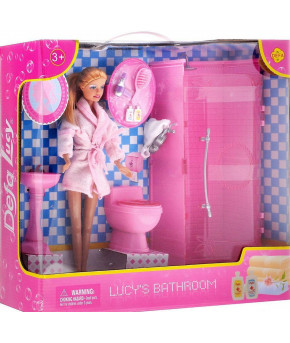 Кукла Defa в ванной комнате 8215