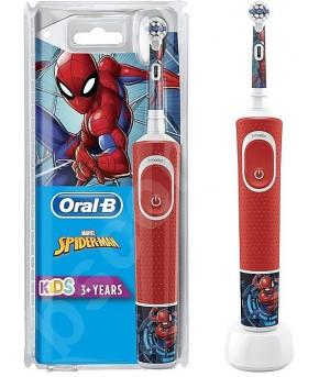 Зубная электрическая щетка Oral-b Spiderman D100.413.2K 3+
