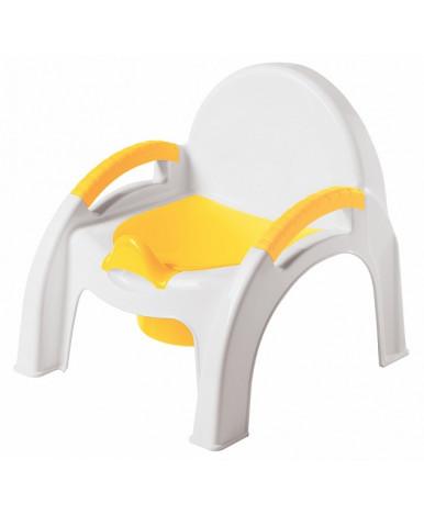 Горшок-стульчик Пластишка желтый