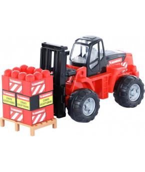 Автомобиль-каталка Polesie 200-02 MAMMOET + совок + каска + грабли + лопата