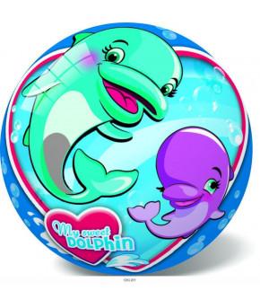Мяч Дельфины, 23 см