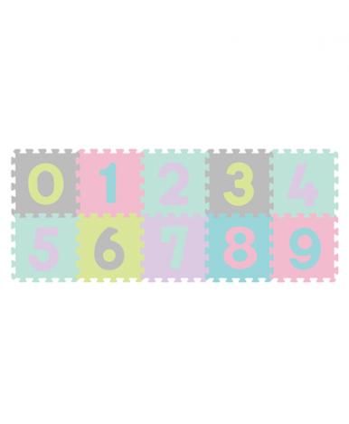 274/02, BabyOno Пазлы мягкие 10шт. ЦИФРЫ, КИТАЙ, страна ввоза: ПОЛЬША