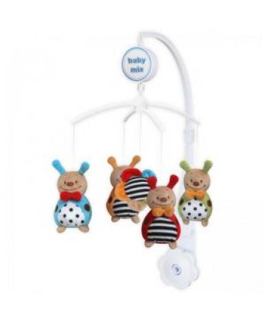 Каруселька BabyMix с плюшевыми игрушками, Божьи коровки