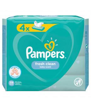 Салфетки влажные Pampers Baby Fresh Quadro 4х52шт