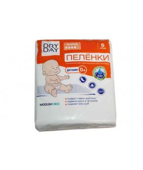 """Пеленка """"DryDay"""" гигиенические одноразовые 60х40см, 5шт"""