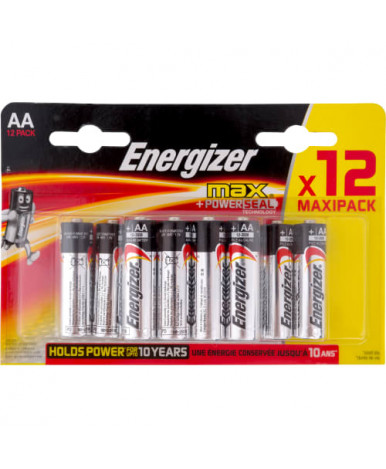 Energizer батарейки алкалиновые MAX тип ААА-LR6, 8+4