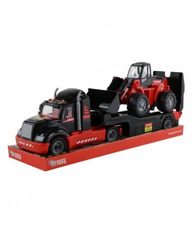 """206-03 """"MAMMOET"""", автомобиль-трейлер + трактор-погрузчик (в лотке)"""