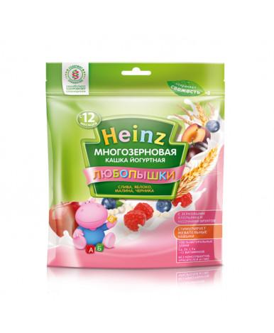 Каша Heinz любопышки слива яблоко малина черника молочно-йогуртовая мягкая упаковка 200г