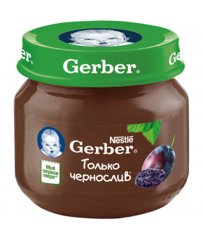 Пюре Gerber чернослив 80г