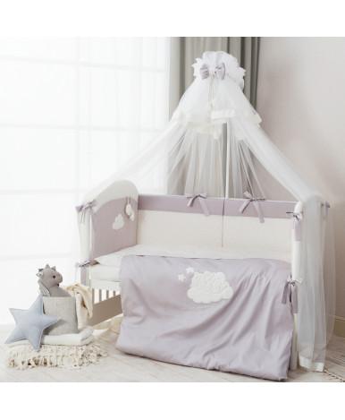 Комплект в кроватку Perina Бамбино грей 6пр