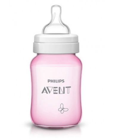 "Бутылочка ""Avent"" Classic розовая, 260мл"