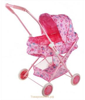 Коляска Maya Toys для кукол Классическая с корзинкой