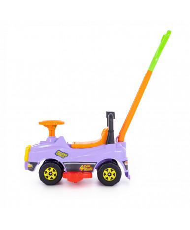 Автомобиль Polesie Джип-каталка с ручкой, сиреневый