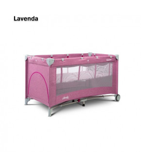 Кровать-манеж Caretero Basic plus lavenda