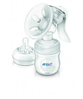 Молокоотсос ручной Avent Natural с бутылочкой 125мл