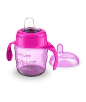 Поильник Avent непроливающий Comfort с носиком и ручками фиолетовый 200мл, 6+