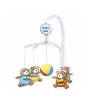 Каруселька Baby Mix Мишки baby с плюшевыми игрушками