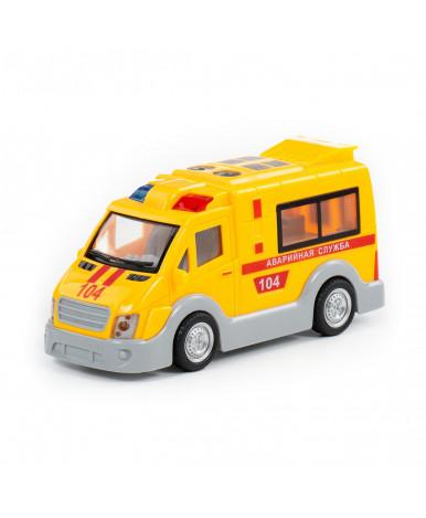 Автомобиль-аварийная инерционная Полесье Аварийная служба(со светом и звуком) (в коробке)