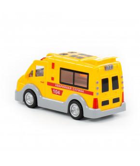 Автомобиль-аварийная инерционный Полесье Аварийная служба со светом и звуком (в коробке)