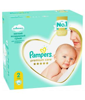 Подгузники Pampers Premium Care 2 (4-8 кг) 102шт