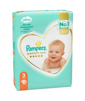 Подгузники Pampers Premium Care 3 (6-10 кг) 74шт