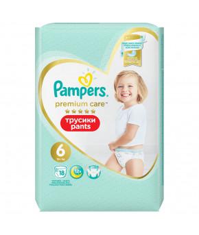 Подгузники-трусики Pampers Premium Care 6 (15+ кг) 19шт