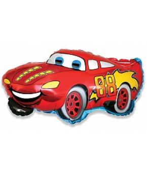 "Шар ""Гоночная машина"" Красный, 32х81см"