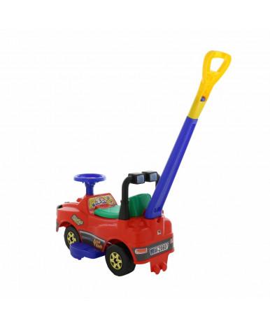Автомобиль-каталка Полесье Джип с ручкой (красный)
