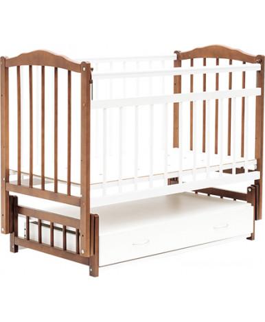 Кровать детская Bambini Classic 10, светлый орех/белый