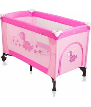"""Кроватка - манеж """"Coto Baby"""" Samba PROSTE-10 розовый"""