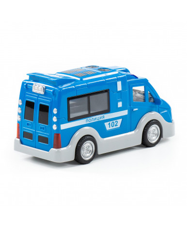 Автомобиль Полесье Полиция, инерционный (со светом и звуком) (в коробке)