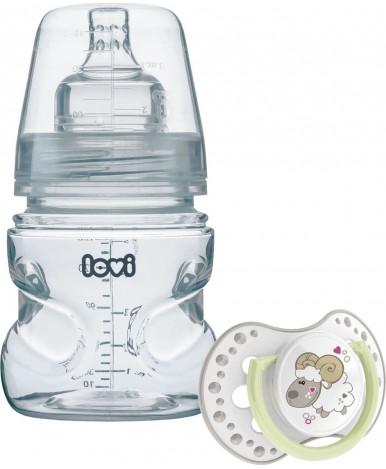 Бутылочка Lovi пластиковая силиконовая+ пустышка 150мл