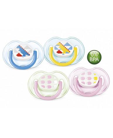 Пустышка Avent Design силиконовая для девочки 0-6 мес