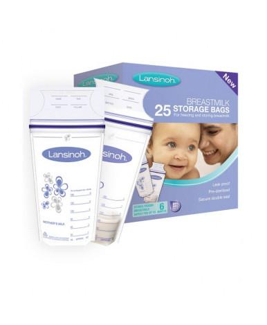 Пакеты Lansinoh для хранения и замораживания грудного молока 25шт