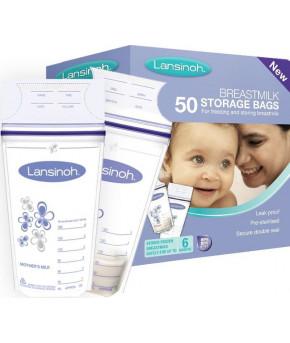 Пакеты Lansinoh для хранения и замораживания грудного молока 50шт