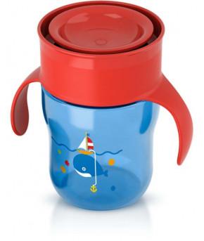 Поильник Avent взрослая чашка красно-синяя 260мл 9+