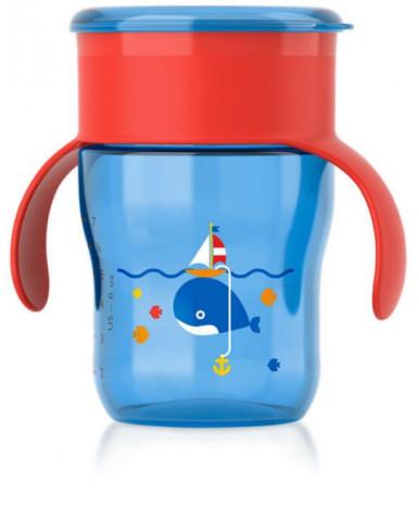 Поильник Avent взрослая чашка красно-синяя 260мл, 9+