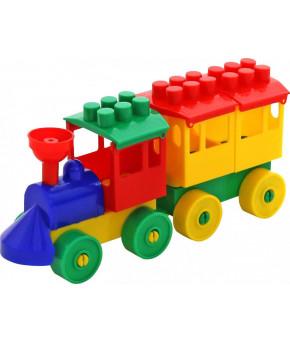 """Конструктор """"Polesie"""" Паровоз с одним вагоном"""